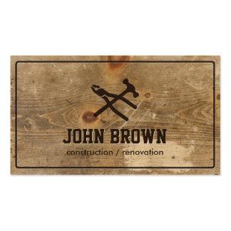 Reparación de madera profesional de la carpintería tarjetas de visita