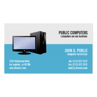 Reparación del ordenador ÉL administradores de red Tarjetas De Visita