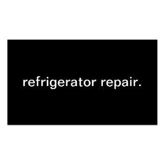 Reparación del refrigerador tarjetas de visita