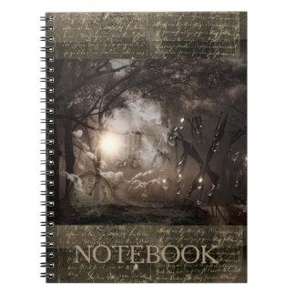 """""""Repetidas veces"""" cuaderno de Steampunk del reloj"""