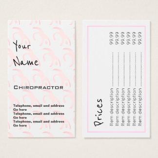"""""""Repite"""" tarjetas de precio del Chiropractor"""