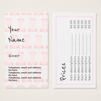 """""""Repite"""" tarjetas de precio del cocinero"""