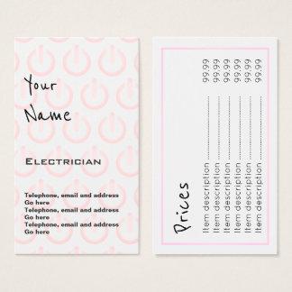 """""""Repite"""" tarjetas de precio del electricista"""