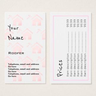 """""""Repite"""" tarjetas de precio del Roofer"""