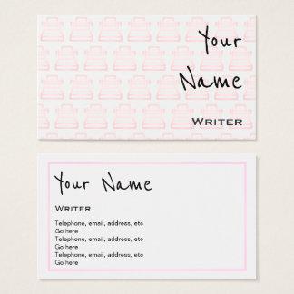 """""""Repite"""" tarjetas de visita del escritor"""