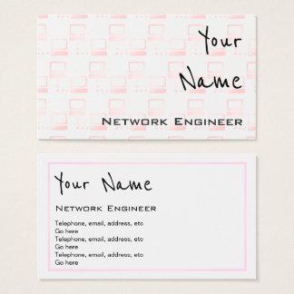 """""""Repite"""" tarjetas de visita del ingeniero de la"""