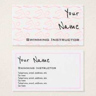 """""""Repite"""" tarjetas de visita del instructor de la"""
