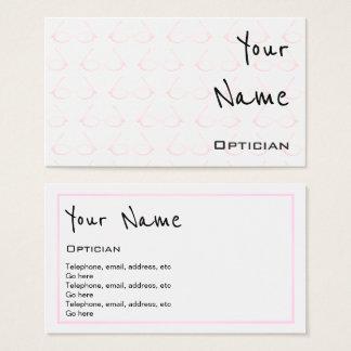 """""""Repite"""" tarjetas de visita del óptico"""