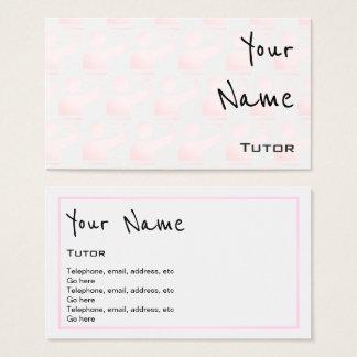 """Repite"" tarjetas de visita del profesor"
