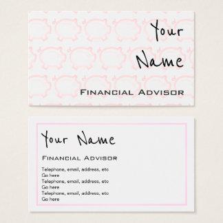 """""""Repite"""" tarjetas de visita financieras del"""