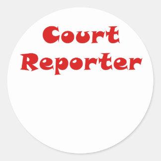 Reportero de corte pegatina redonda