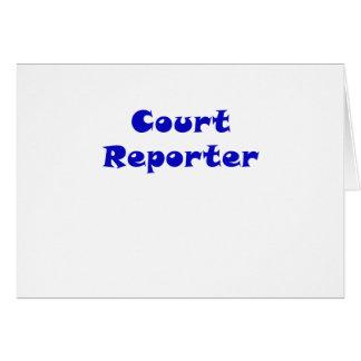 Reportero de corte tarjeta