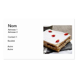Repostería a la fresa plantilla de tarjeta personal