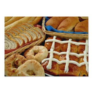 Repostería y pastelería deliciosa: panecillos, invitación 12,7 x 17,8 cm