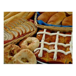 Repostería y pastelería deliciosa: panecillos, rol tarjeta postal