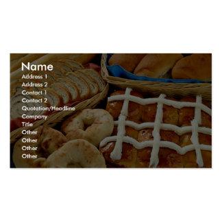 Repostería y pastelería deliciosa: panecillos, rol tarjetas de visita