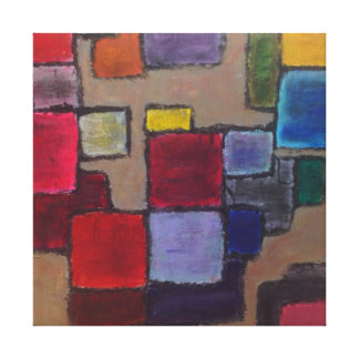 Representación sistemática lienzo envuelto para galerias