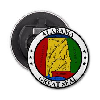 Representante del símbolo de la bandera de Estados Abrebotellas Redondo