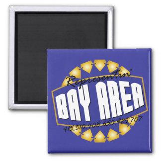 Representante la bahía iman de frigorífico