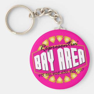 Representante la bahía llavero redondo tipo chapa