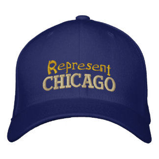 Represente el casquillo de Chicago Gorras De Beisbol Bordadas