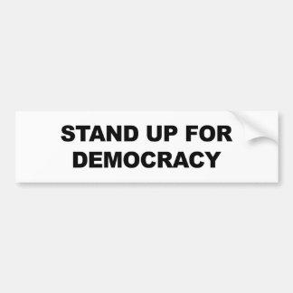 Represente para arriba democracia pegatina para coche