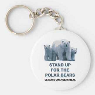 Represente para arriba los osos polares llavero redondo tipo chapa