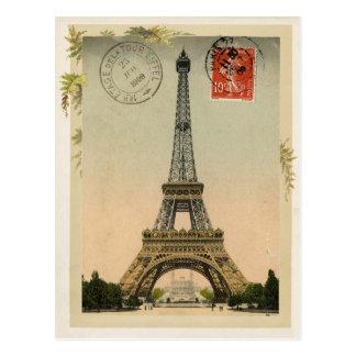 Reproducción del vintage de la torre Eiffel Postal