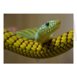 Reptil de la serpiente tarjeta de felicitación