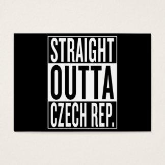 República Checa del outta recto Tarjeta De Negocios