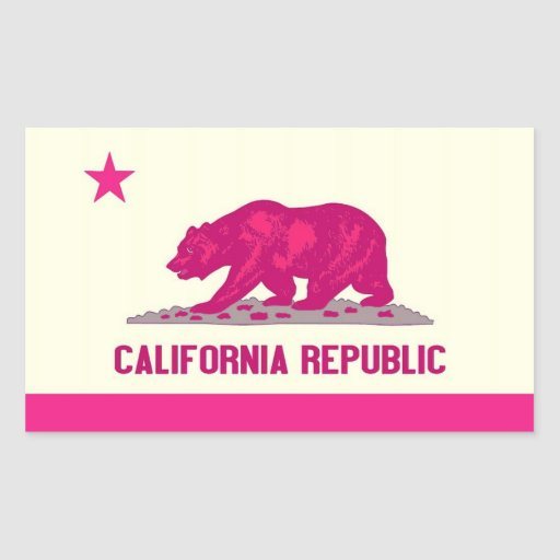 República de California Rectangular Pegatina