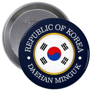 República de Corea (ROK) Chapa Redonda De 10 Cm