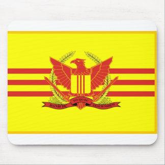 República de la bandera de las fuerzas militares alfombrilla de ratón