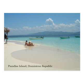 República Dominicana de la isla del paraíso Postal