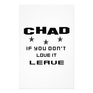 República eo Tchad si usted no lo ama, se va Papelería