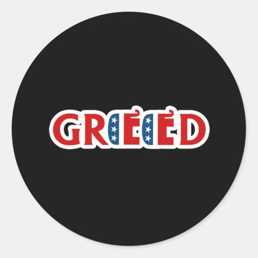 Republicano codicioso etiqueta redonda