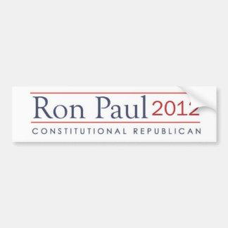 Republicano constitucional de Ron Paul 2012 Pegatina Para Coche