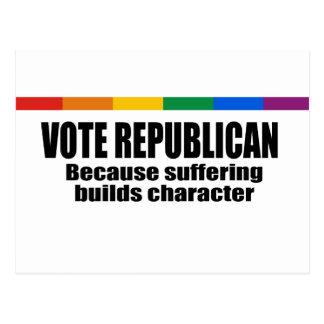 Republicano del voto - porque el sufrimiento const tarjetas postales