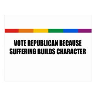 Republicano del voto porque el sufrimiento constru tarjetas postales