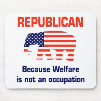 Republicano divertido - bienestar alfombrillas de ratón
