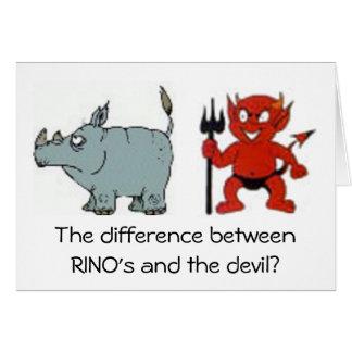Republicanos de RINO Tarjeta