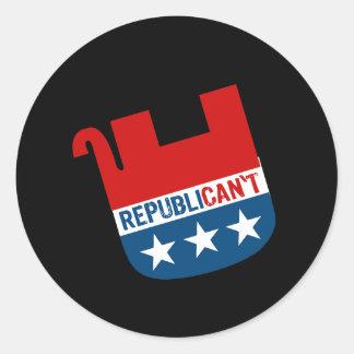 Republican't Pegatinas Redondas