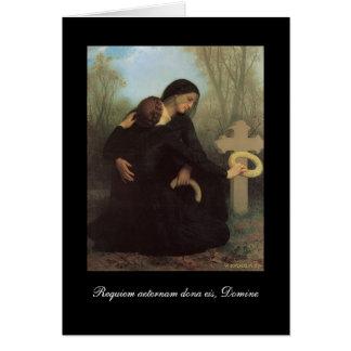Réquiemes - tarjeta de condolencia católica -