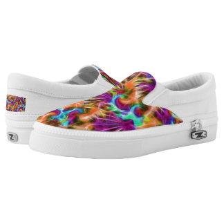 Resbalón de Zipz del fractal en los zapatos,