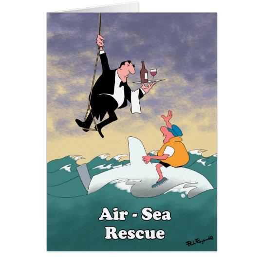 Rescate aero-marítimo tarjeta de felicitación