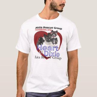 Rescate de Akita - corazón de Dixie Camiseta