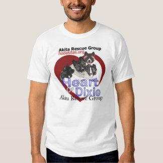 Rescate de Akita - corazón de Dixie Camisetas