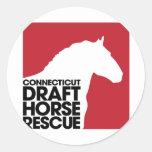 Rescate del caballo de proyecto del CT Etiqueta Redonda