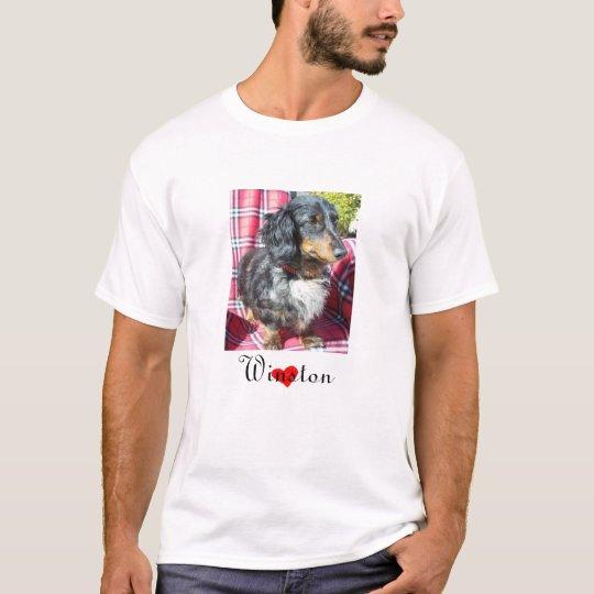 Rescate del Dachshund - retrato para hombre Camiseta