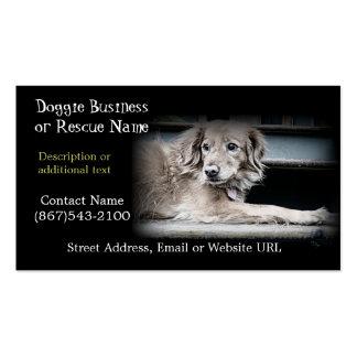 Rescate del mascota o productos del perro plantillas de tarjetas de visita
